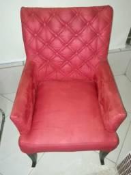 Cadeira de Veludo Vermelha