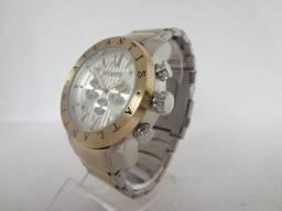 Relógio Atlantis A3310, Dupla Cor. Prata, Dourado, Novo, Original, Garantia