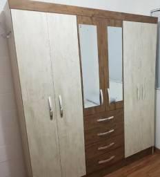 Guarda Roupa 6 portas com espelho