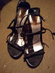 Sandália de salto 15 cm