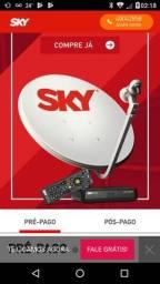 Antena da sky com 900 canais