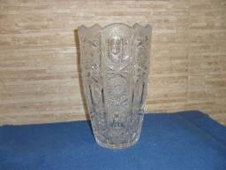 Lindo vaso de cristal Tcheco