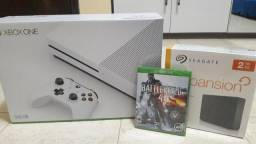 Xbox One Slim 500GB + Hd Externo 2TB + Battlefield 4 Mídia Física