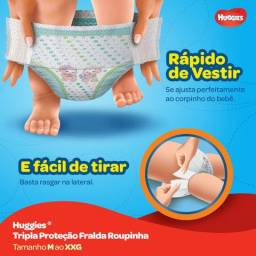 Fralda Huggies Roupinha Tripla Proteção M 53 CENTAVOS A TIRA