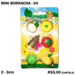 Cartela de Mini Borracha Frutas e Verduras 04