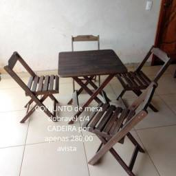 Mesa e cadeira dobravel