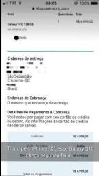 Troco Galaxy S10 por iPhone X