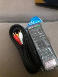Controle para dvd sony e cabo