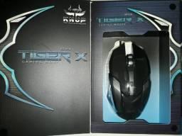 Título do anúncio: Mouse Gamer 6 Botões Tiger X Led Rgb 7 Cores Base Metal Knup Kp-V19