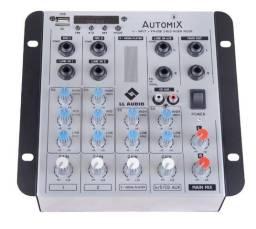 Mesa Som Auto Mixer Automix Ll A502r 4 Ch Bluetooth Usb