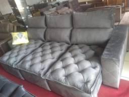 Sofa reto retrátil e reclinável 2,90