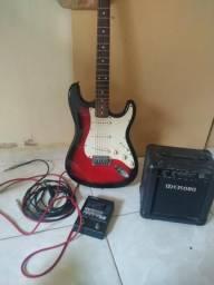 Guitarra, amp e pedaleira