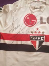 Camiseta do são Paulo oficial autografada por Rogério Ceni