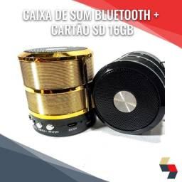Combo! Caixa de som Bluetooth + Cartão 16gb