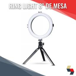 "Ring Light 8"" de mesa"