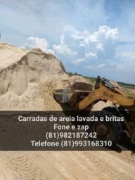 Areia lavada e fingir, Barros e britas em carradas