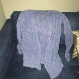 blusa tricot gg azul