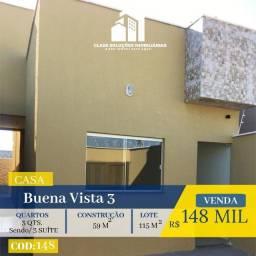 Casa De 2 Quartos - Residencial Buena vista 3 - Goiânia