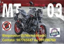 Bloqueador (S/Mensalidade) Yamaha R3 Mt03 Fazer Xt Xj6 Tenere Factor Ybr