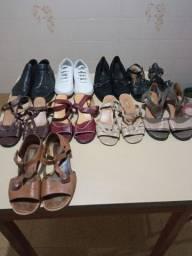 Título do anúncio: Sapatos femininos em couro tamanho 40