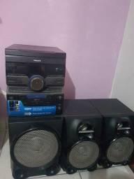 Título do anúncio: Vender um som Philips usado tem MP3 WMA Reprodução de músicas