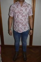 camisa manga curta contemporary line wear