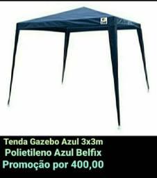 Tenda Gazebo Azul 3x3m Polietileno Azul Belfix
