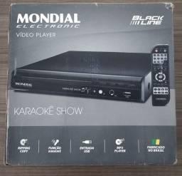 DVD Player Mondial Karaokê com Pontuação e USB