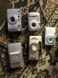 Câmeras antigas analógicas e digitais