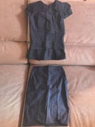 Camisa e saia tamanho P (Novo) - Moda evangélica
