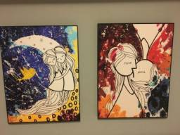 Vendo 2 quadros juntos originais Urban Arts novos .