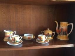 Conjunto Porcelana japonesa café - Casca de ovo