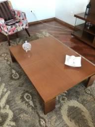 Título do anúncio: 2 mesas de madeira de centro e canto