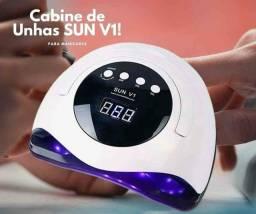 cabine de unhas Sun UV Led: Cabine de Unhas Forninho 45 LEDS Manicure SUN V1 ORIGINAL