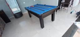Mesa Tentação de Sinuca Cor Preta Tecido Azul Mod. EHXE4520