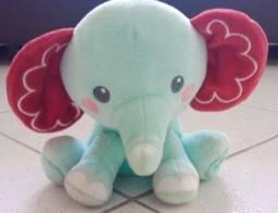 Título do anúncio: Pelúcia Bean Bag Meu Amiguinho Elefante Fisher Price