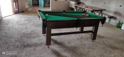 Mesa Tentação e Jantar Cor Imbuia Tecido Verde Mod. KHDK4188