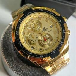 Relógio Casio Edifice A Prova D´Agua 100% Funcional Com Caixa Premio.