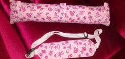 Kit almofada de cinto + faixa protetora de soneca infantil