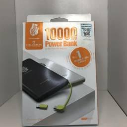 Carregador Pineng Power Bank Original Slim PN-951 10000mAh Branco.