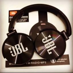 Fone de Ouvido Bluetooth Sem Fio JBL Everest jb950 Wireless Radio FM Mp3