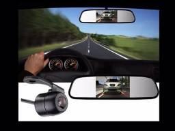 Espelho retrovisor com tela lcd 4,3 + câmera de ré universal,novos entrego