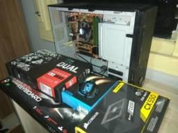 PC Gamer Radeon RX580 + core i5 4570 3.6ghz+ 16gb + fonte Corsair 550w + Teclado e Mouse