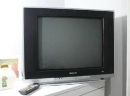 TV Philips 21 p. + PlayStation 2 em ótimo estado