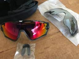 Oculos Oakley Jawbreaker Black Polished/Polarized Blk Lens/Prizm Road