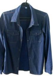 Camisa Jeans Azul Marinho Nova