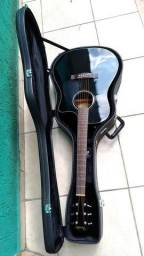 Violão Fender CD60 Fishman Black Folk com Hard Case