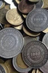 Coleção de moedas.