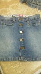 Saia Jeans Infantil Nova