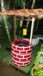 Poço de pneus reciclado